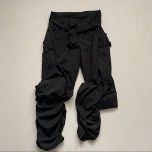 Kyodan | Black High Waisted Tie Front Dance Pants